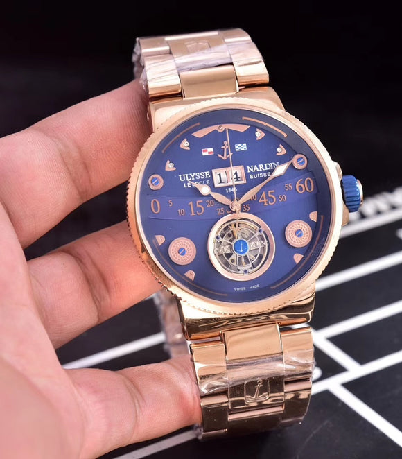 Ulysse Nardin Marine Grand Deck Tourbillon Gold/Blue - My Watch Land