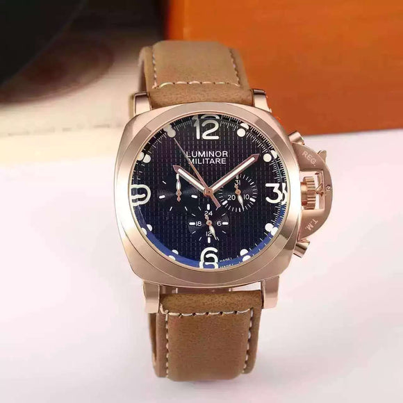 Panerai Luminor Mechanical Gold Case Luxury Men Watch