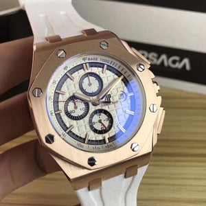 Audemars Piguet ROYAL OAK OFFSHORE White Automatic Men's Watch - My Watch Land