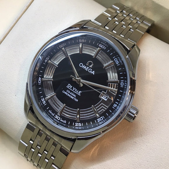 Omega De Ville Black Dial Luxury Men's Watch - My Watch Land