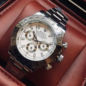 Rolex Oyster Perpetual Cosmograph Daytona White Dial Luxury Men's Watch - My Watch Land