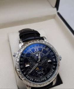 Patek Philippe Grandmaster Chime 5175 Watch Dual Side Engraved Silver Men`s Mechanical Luxury Watch - My Watch Land