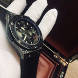 Hublot Classic Black Fusion Fuente 20th Anniversary Fully Hand Engraved Quartz Men`s Luxury Watch - My Watch Land