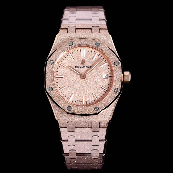 Audemars Piguet Royal Oak Rose-Gold Frozen Gold 33 mm Luxury Woman Watch