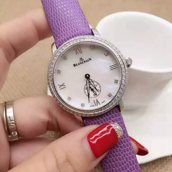 Blancpain Villert Small Seconds Silver Diamonds Luxury Lady Watch