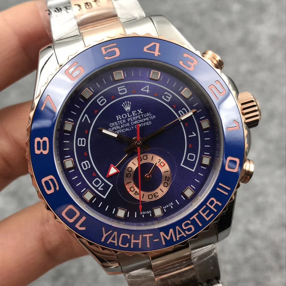 Rolex Oyster Perpetual Yacht-Master II Silver-Gold Men`s Luxury Watch