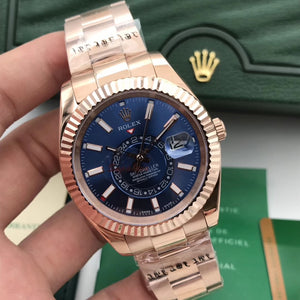 Rolex Sky-Dweller Rose-Gold 41 mm 42 mm Men`s Automatic Self-Wind Luxury Watch - My Watch Land