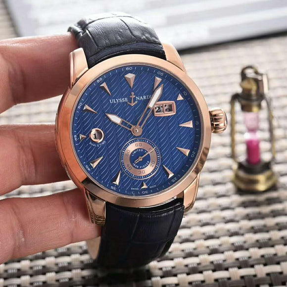 Ulysse Nardin Dual Time Gold Luxury Men Watch