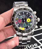 Rolex Oyster Perpetual Superlative Chronometer Officially Certified Cosmograph Daytona Rainbow 40 mm Silver Men`s Quartz Luxury Watch - My Watch Land