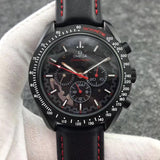 Omega Speedmaster Moon watch Apollo 8 Dark Side Of The Moon Automatic Red Dial Men's Watch - My Watch Land