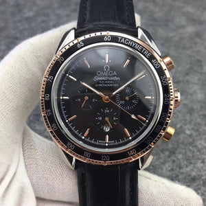 Omega Speedmaster Co-Axial Leather Band 41 mm Mechanical Self-Wind Men`s Watch - My Watch Land