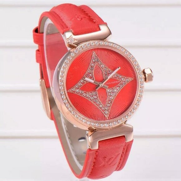 Louis Vuitton Tambour Gold Diamonds Luxury Woman Watch