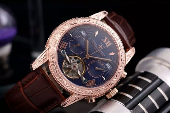 Vacheron Constantin Les Cabinotiers Grande Complications Gold Engraved Tourbillon Luxury Men Watch