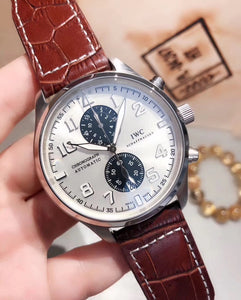 IWC Pilot`s Chronograph Edition Antoine de Saint Exupéry Silver Men`s Luxury Watch