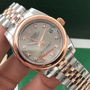 Rolex Oyster Perpetual Datejust Silver-Gold 31mm Woman`s Watch