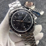 Omega Speedmaster Co-Axial Silver Stainless Steel Bracelet 41 mm Mechanical Self-Wind Men`s Watch - My Watch Land