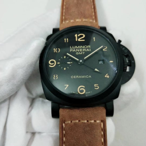 Panerai Luminor Marina 1950 44mm GMT Ceramic PAM00441 Luxury Men Watch