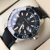 TAG Heuer Aquaracer Calibre 5 With Canvas Band Luxury Men`s Watch