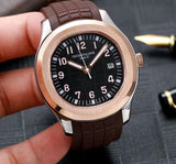 Patek Philippe Aquanaut Silver-Gold Luxury Men`s Watch
