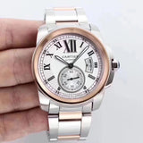 Calibre De Cartier Silver/Black Luxury Men's Watch - My Watch Land