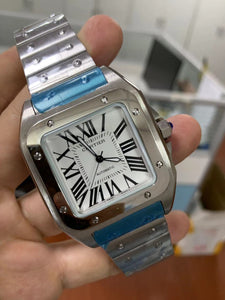 Cartier Santos de Cartier Silver Luxury Men's Watch - My Watch Land