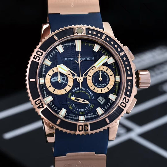 Ulysse Nardin Marine Diver Gold Luxury Men's Watch
