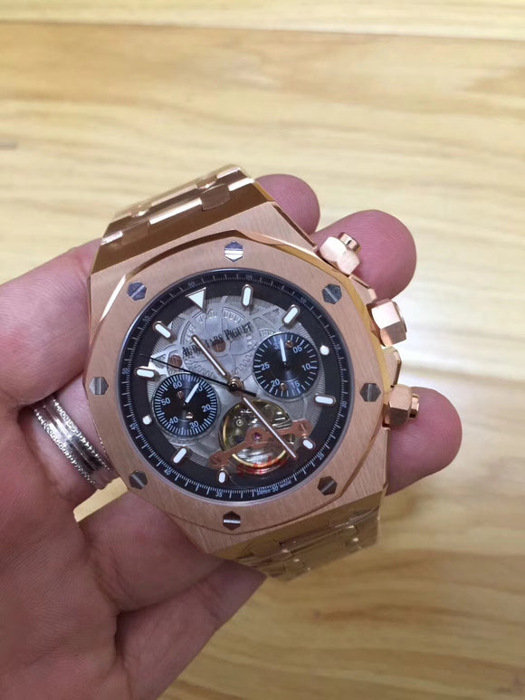 Audemars Piguet Royal Oak Offshore Tourbillon Gold Luxury Men Watch