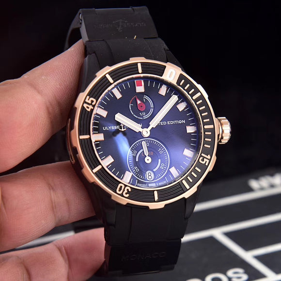 Ulysse Nardin Monaco Limited Edition Gold, Black Luxury Men`s Watch