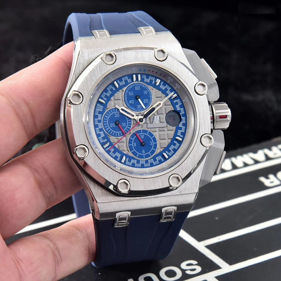 Audemars Piguet Royal Oak Offshore Michael Schumacher Silver Luxury Men Watch