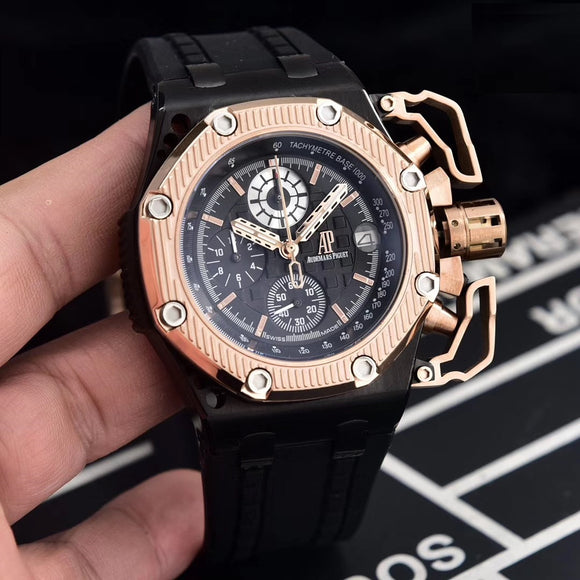 Audemars Piguet Royal OAK Offshore Survivor Gold Luxury Men`s Watch