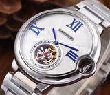 Ballon Silver De Cartier White Dial 42 mm Silver\Gold Luxury Men's Watch - My Watch Land