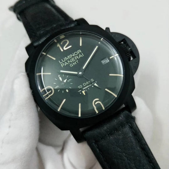 Panerai Luminor 1950 GMT 10-Days Black Dial Luxury Men Watch