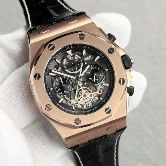 Audemars Piguet Royal Oak Offshore Quartz Chronograph Gold Luxury Men Watch