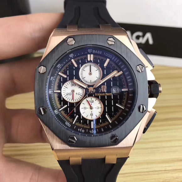 Audemars Piguet ROYAL OAK OFFSHORE Black Automatic Men's Watch - My Watch Land