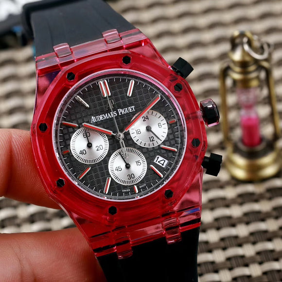 Audemars Piguet Skeleton Royal Oak Plastic Case Colored Luxury Men Watch