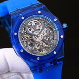 Audemars Piguet Skeleton Royal Oak Plastic Case Tourbillon Luxury Men Watch