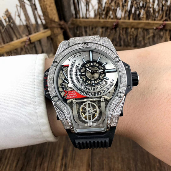 Hublot MP-09 Tourbillon BI-Axis Diamonds Luxury Men Watch