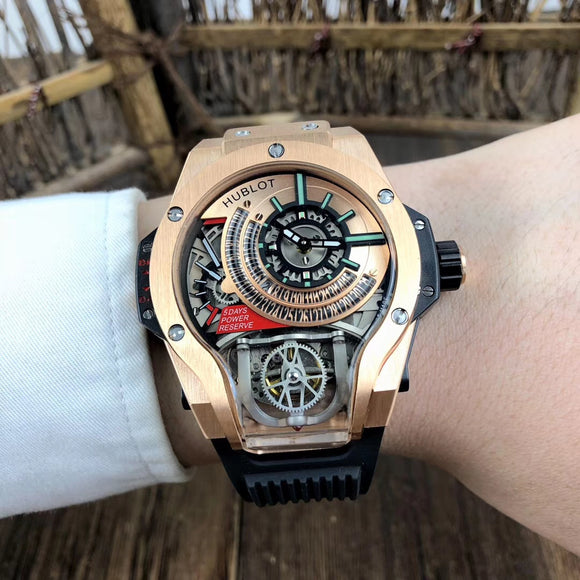 Hublot MP-09 Tourbillon BI-Axis Gold Luxury Men Watch