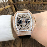 Franck Muller Vanguard Gold Diamonds Men`s Watch