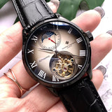 Vacheron Constantin Black Leather Band Luxury Men Watch