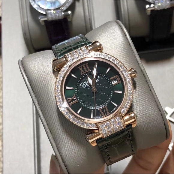 Chopard Imperiale Gold Green Diamonds Automatic 36 mm Luxury Woman Watch