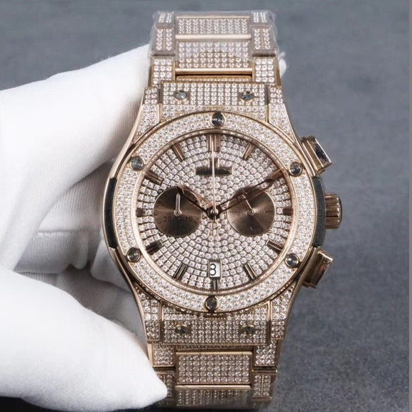 Hublot Big Bang Gold Diamonds Luxury Men Watch