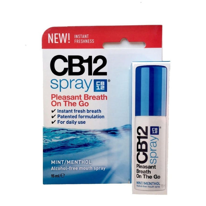 CB12 Instant Fresh Breath Spray Mint 15ml - Nieboo