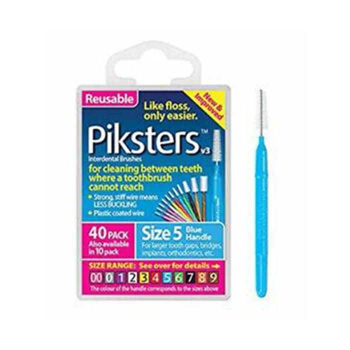 Piksters Interdental Blue Handle Size 5 Brush - Pack of 40