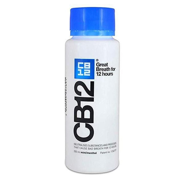 CB12 Mint Menthol 250ml Mouth Rinse Blue