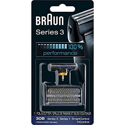 Braun Series 3 30B  Shaver Replacement Foil and Cutter Pack with Braun Oil and Cleaning Brush - Nieboo