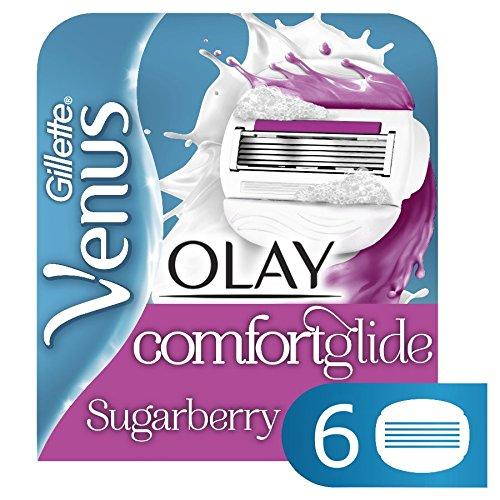 Venus ComfortGlide with Olay Sugarberry Women's Razor Blades - 6 Refills - Nieboo