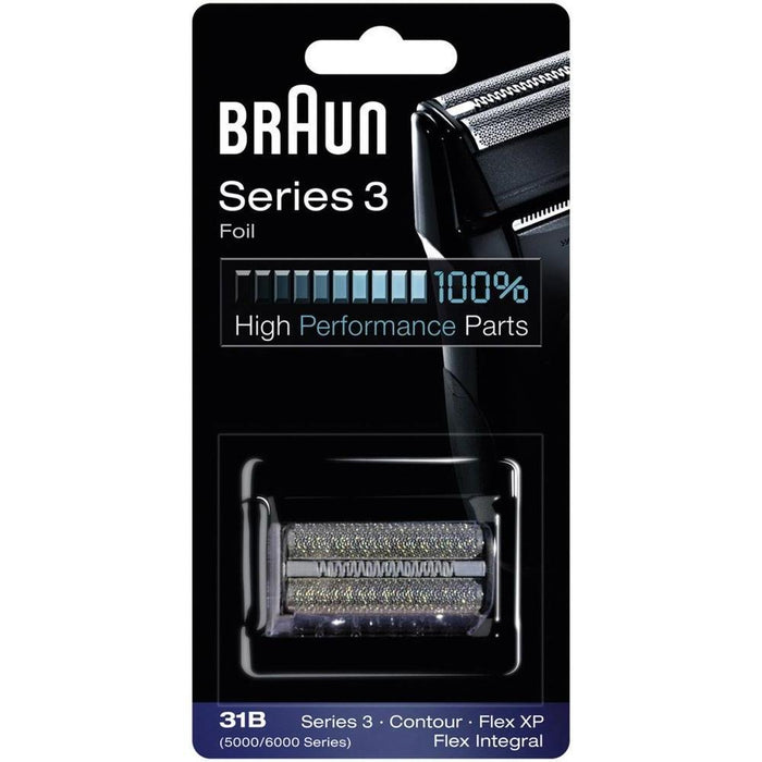 Braun Series 3 31B  Shaver Replacement Foil and Cutter Pack with Braun Oil and Cleaning Brush - Nieboo