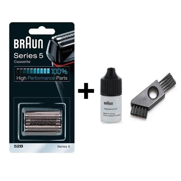 Braun Series 5 5B Shaver Replacement Foil and Cutter Pack with Braun Oil and Cleaning Brush - Nieboo