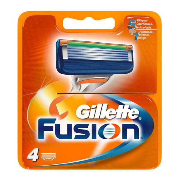 Gillette Fusion Men's Razor Blade Refills Pack of 4 - Nieboo